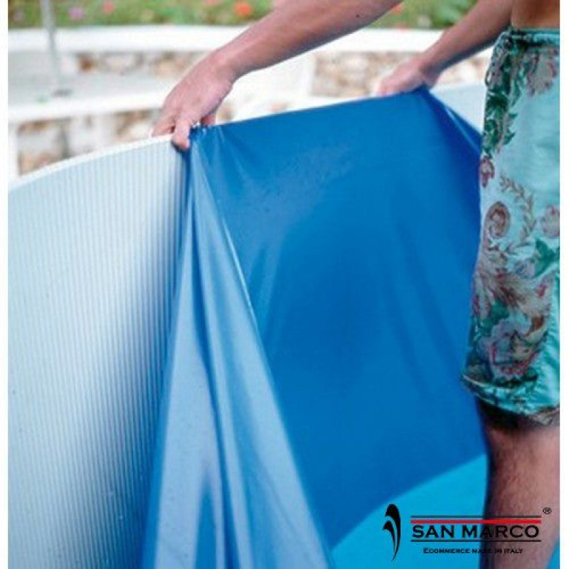 Liner piscina gre ovale azzurro 610x375x120 cm san marco for Liner piscina gre