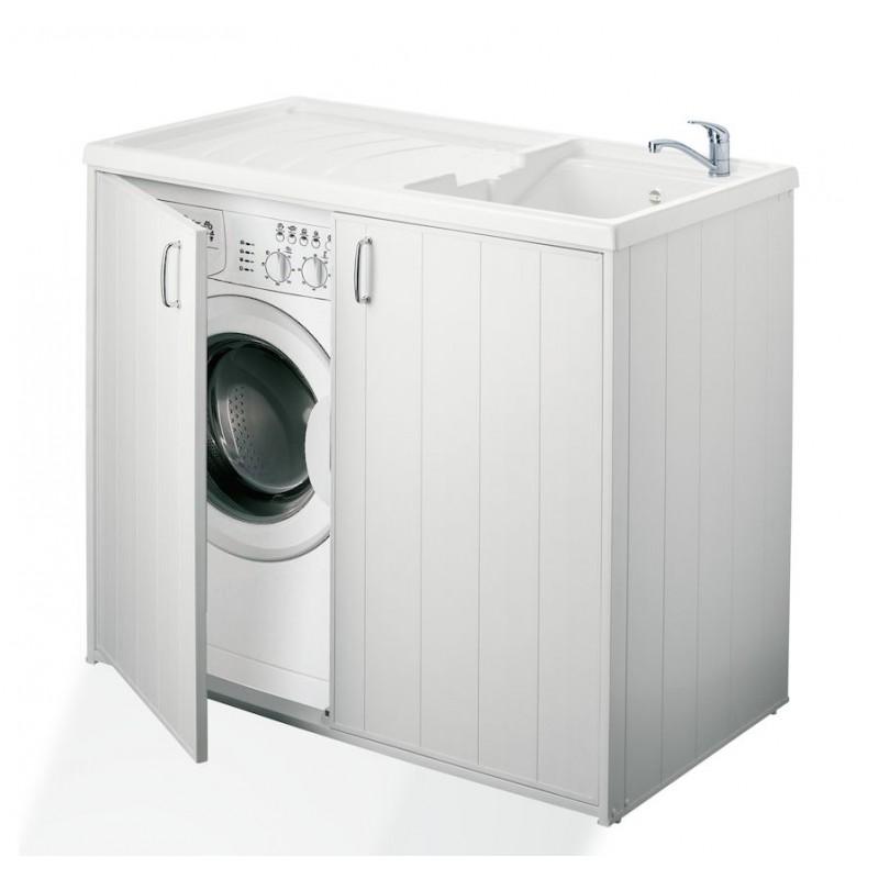 Mobile lavatoio coprilavatrice boiserie in ceramica per for Coprilavatrice da esterno