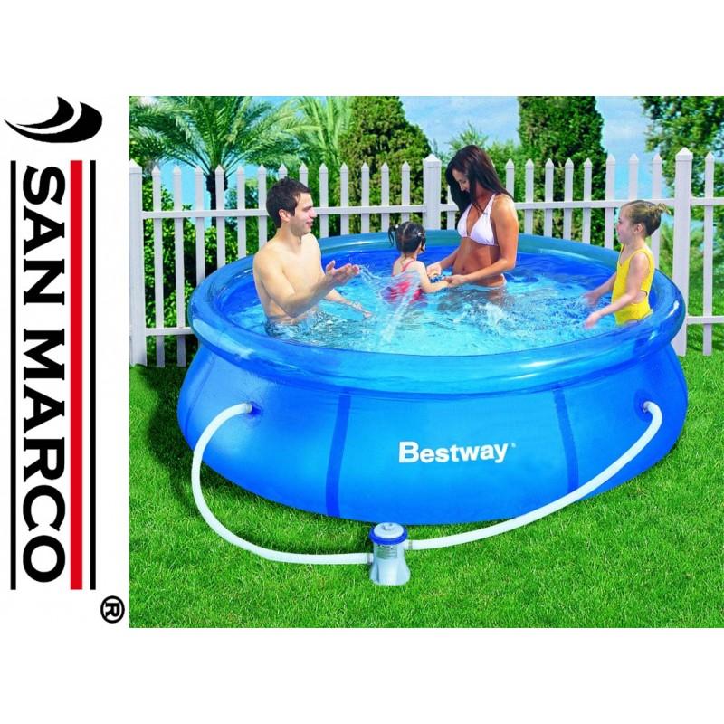 Piscina fuori terra bestway fast set 244x66 cm san marco for Bestway italia piscine