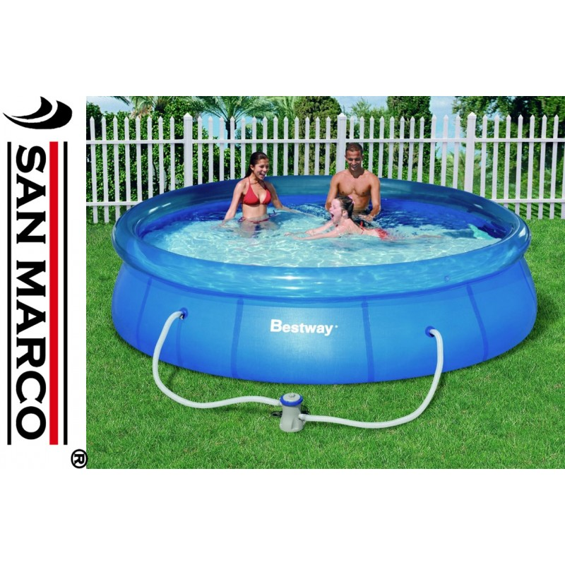 Piscina fuori terra bestway fast set 366x76 cm san marco for Piscine fuori terra best way