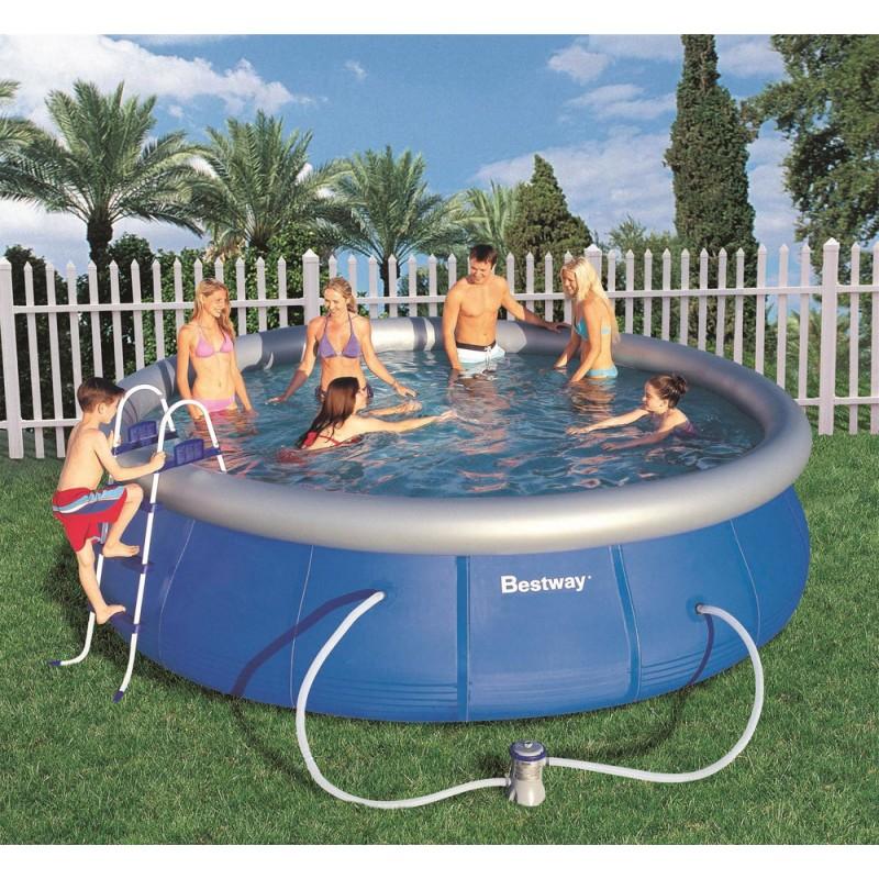 Piscina fuori terra bestway fast set 457x107 cm san marco for Accessori piscine fuori terra bestway