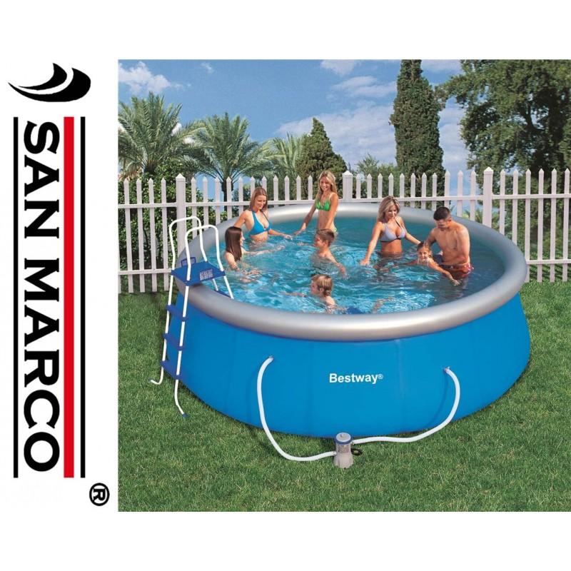 Piscina fuori terra bestway fast set 457 cm san marco for Accessori piscine fuori terra bestway