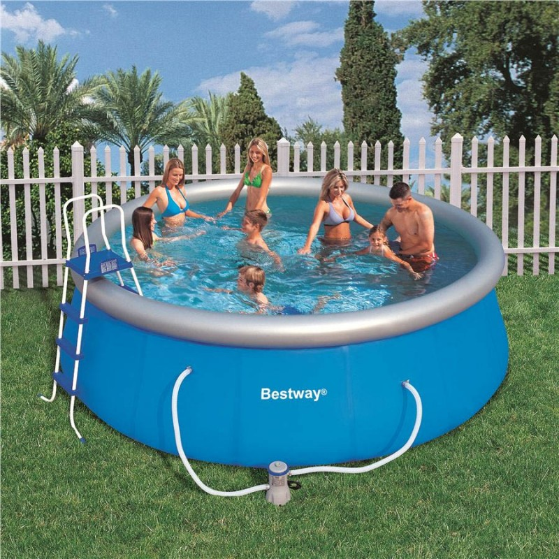 Piscina fuori terra bestway fast set 457 cm san marco for Piscine fuori terra best way
