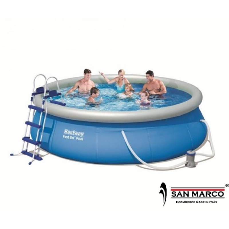 Piscina fuori terra bestway fast set 366x91 cm san marco for Accessori piscine fuori terra bestway