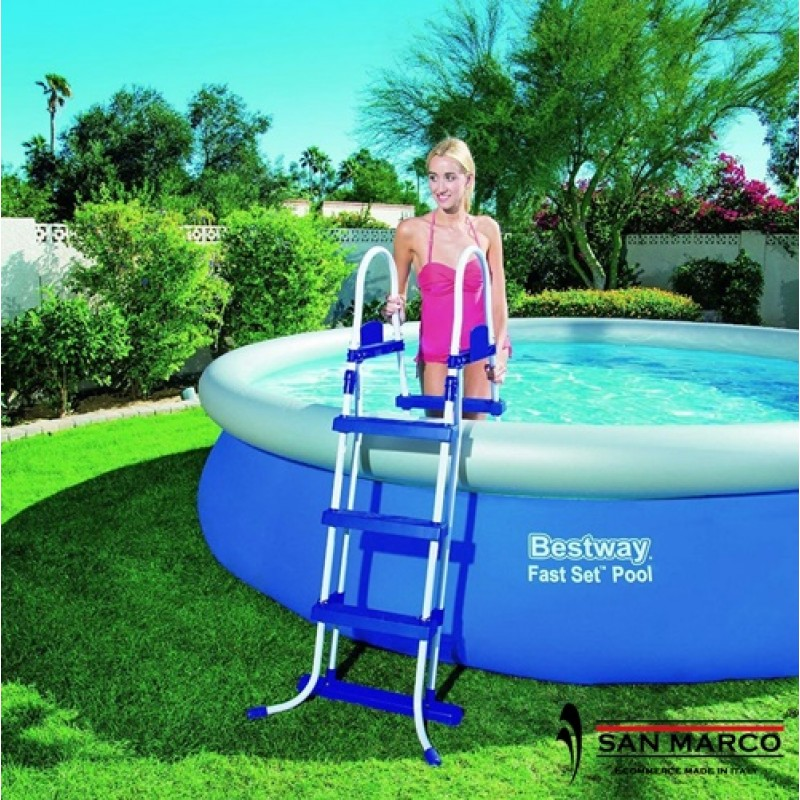 Piscina fuori terra bestway fast set 366x91 cm san marco for Piscine fuori terra best way