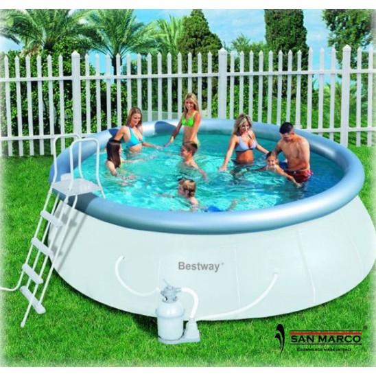 Piscina fuori terra bestway fast set 457 cm san marco - Tappeto per piscina fuori terra ...