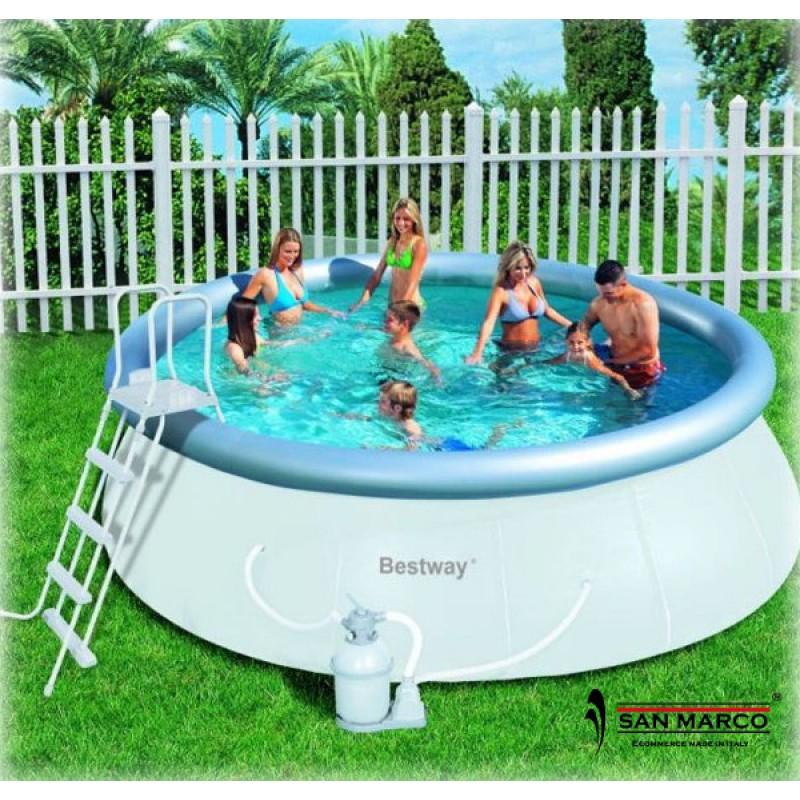 Piscina bestway fast set autoportante 457x122 cm san marco for Accessori piscine fuori terra bestway