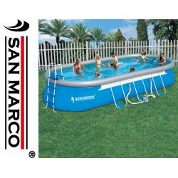 Piscina San Marco ovale 732x366x122 cm con Kit di pulizia