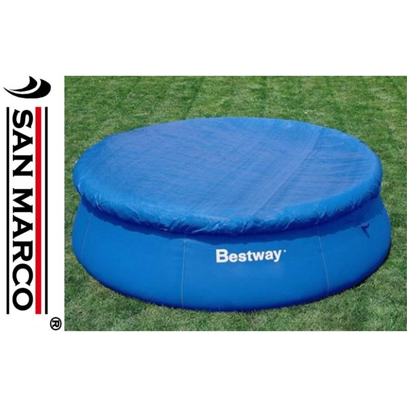 Telo copertura piscine rotonde bestway 305 cm san marco for Coperture piscine fuori terra bestway