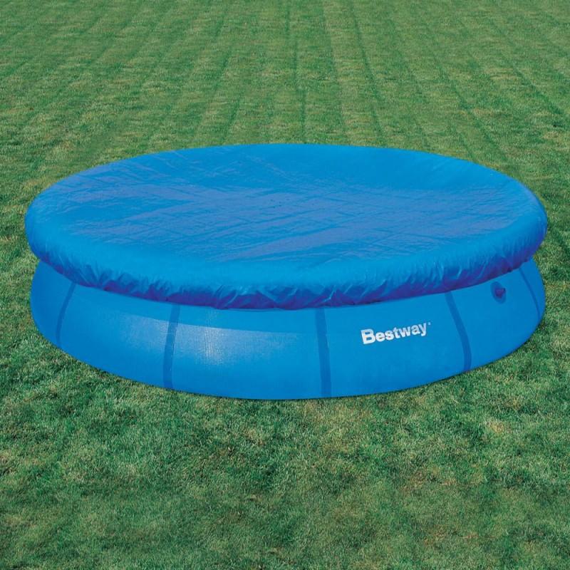 Telo copertura piscine rotonde bestway 366 cm san marco for Teli copripiscina fuori terra