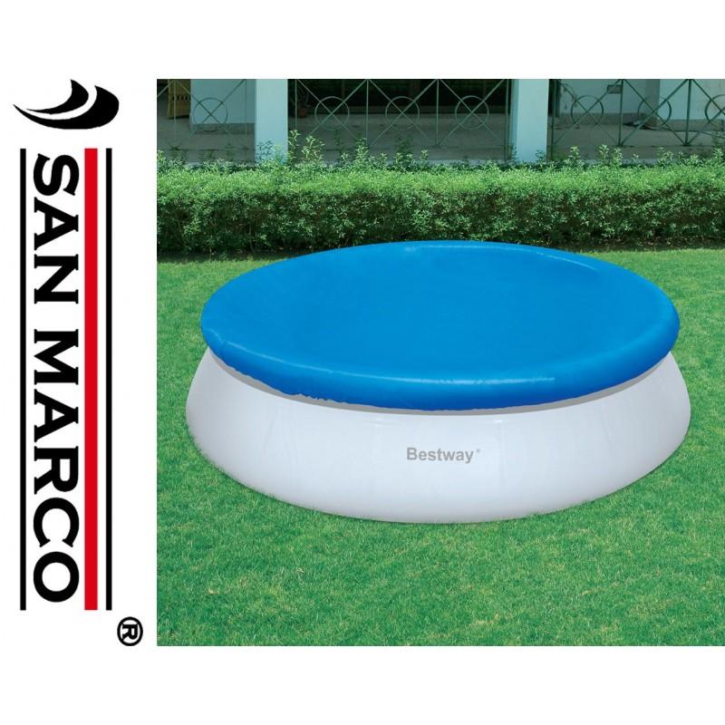 Telo copertura piscine rotonde bestway 457 cm san marco for Piscine fuori terra rotonde