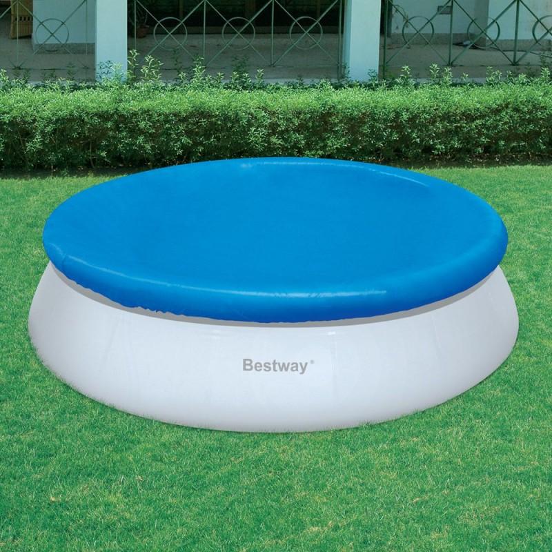 Telo copertura piscine rotonde bestway 457 cm san marco for Teli copripiscina fuori terra