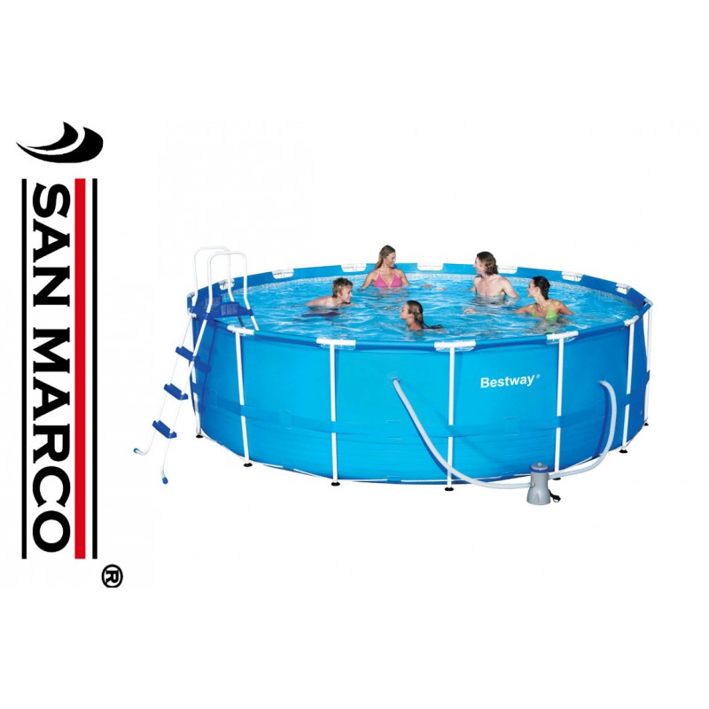 Piscina fuori terra bestway steel pro 457x122 cm san marco for Piscine fuori terra best way