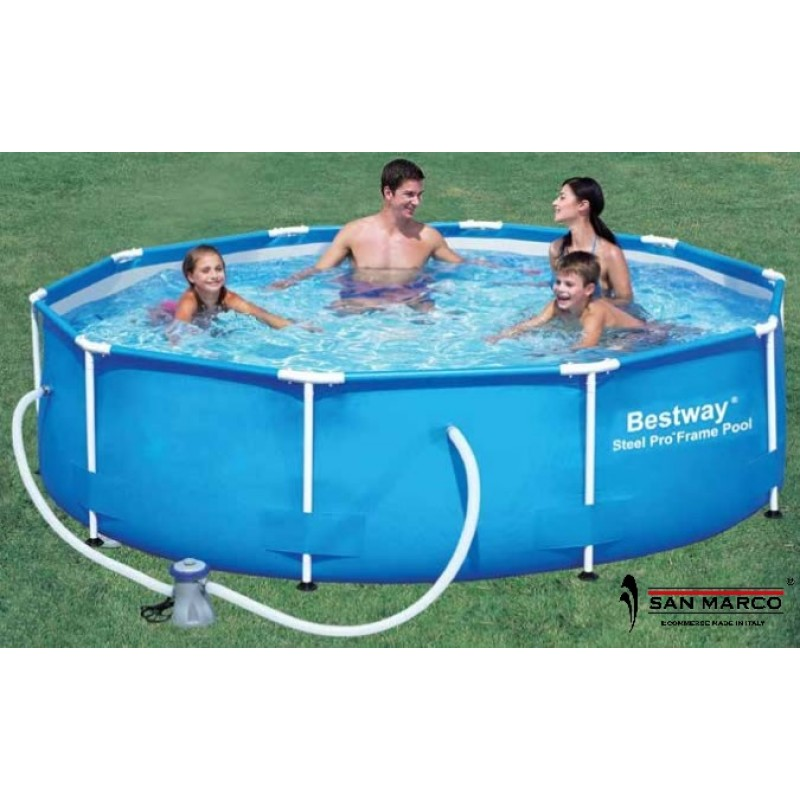 Piscina fuori terra bestway steel pro 366x100 cm san marco for Piscine fuori terra best way