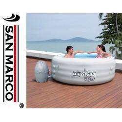 Piscina con idromassaggio Lay-Z-Spa vegas, riscaldata per 4 persone