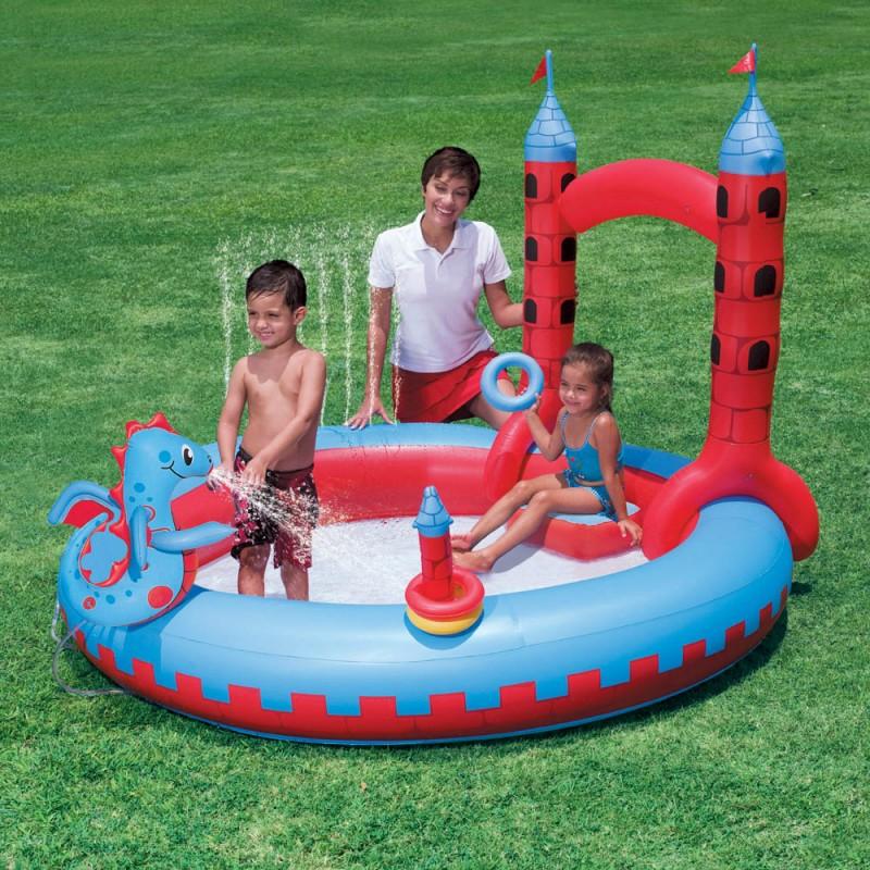 Conosciuto Castello gonfiabile per bambini con drago e giochi d'acqua | San Marco JP01