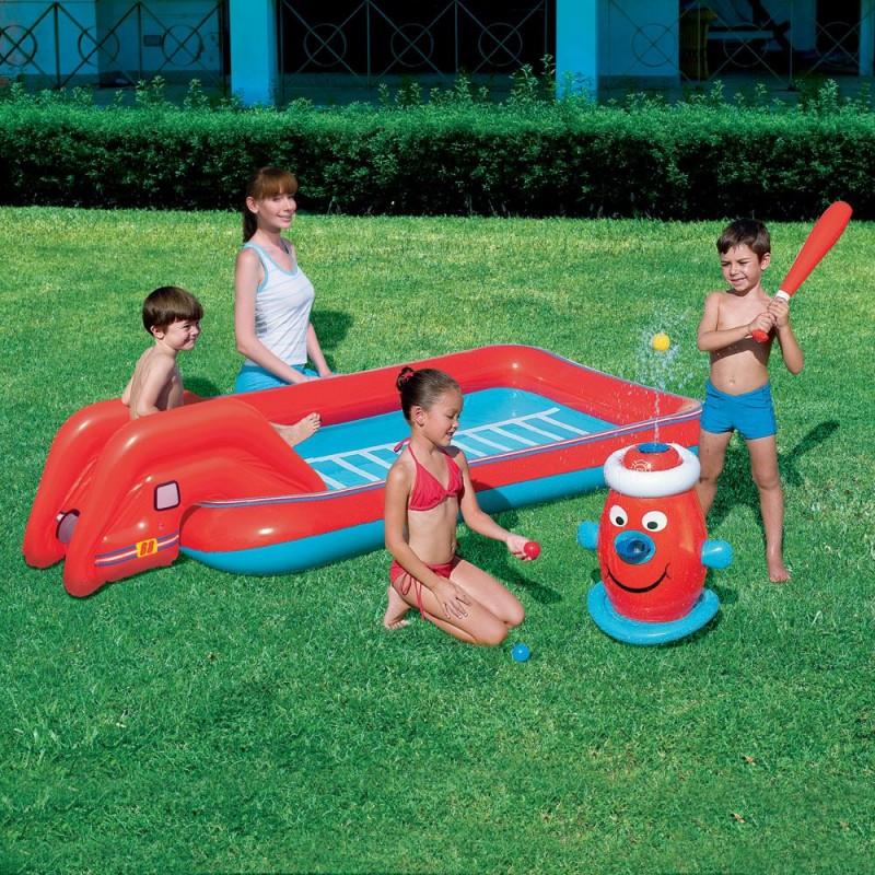 Gioco baseball gonfiabile per bambini con piscina san marco - Piscina gioco gonfiabile ...