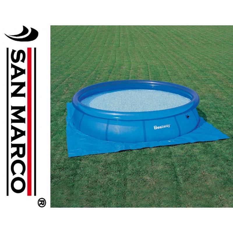 Tappeto sotto piscina fuori terra fino a 366 cm san marco - Tappeto sottopiscina ...