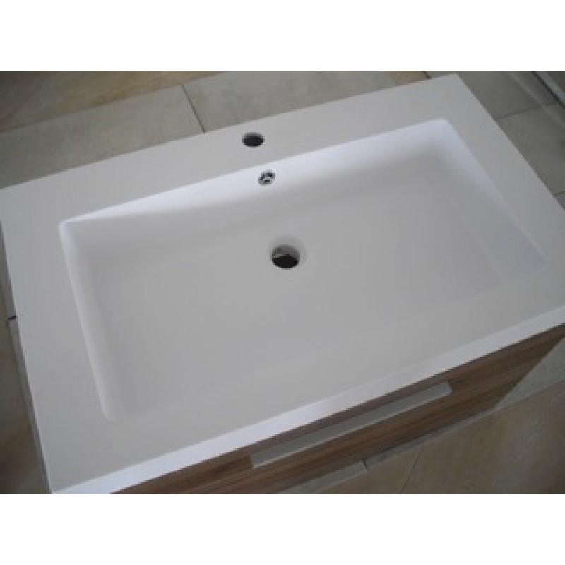 mobile da bagno sospeso 60 cm serie urban con 2 cassettoni chiusura ammortizzata