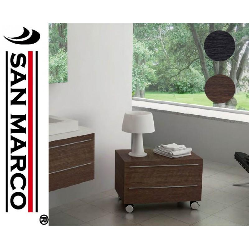 Cassettiera mobile da bagno con ruote 60x54x47 cm | San Marco