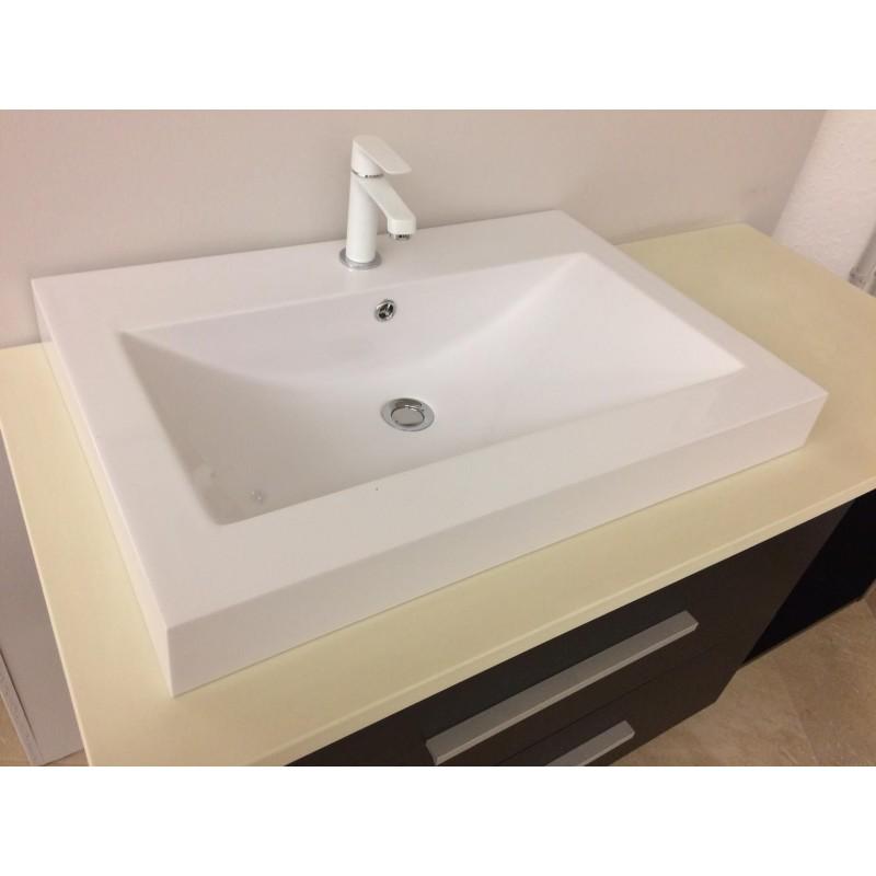 Mobile bagno sospeso 120 cm con 2 cassettoni | San Marco