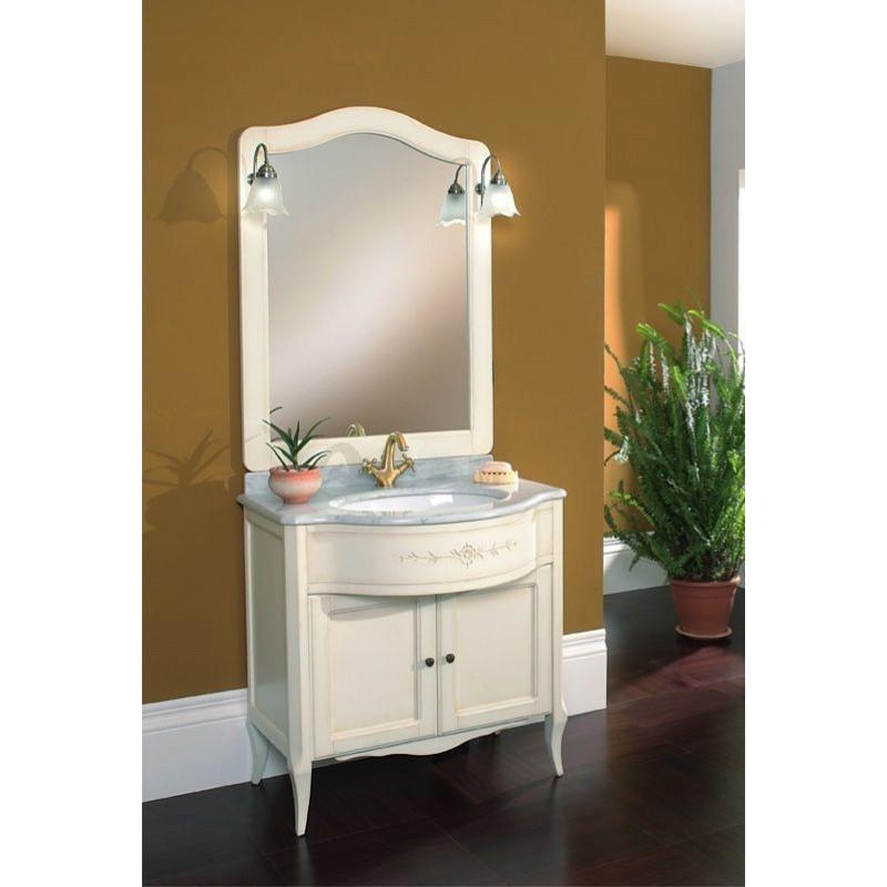 Mobile da bagno con lavabo 87x60 cm finto noce san marco - Brico vasche da bagno ...