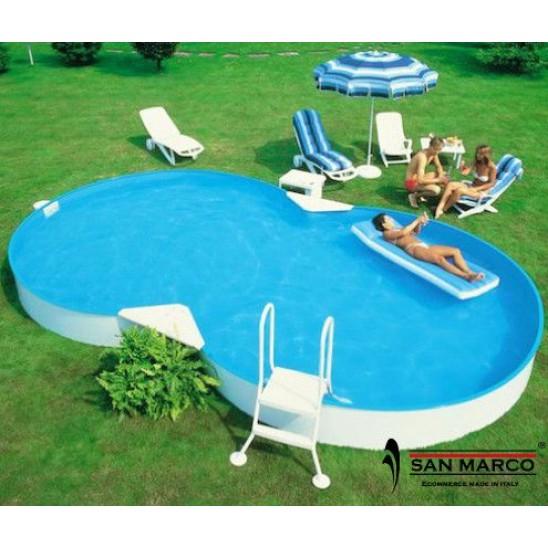 Piscina fuori terra zodiac riva 625x360x150 cm san marco - Giardino con piscina fuori terra ...