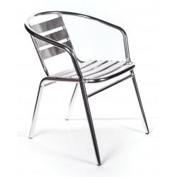 2 sedie alluminio impilabili per bar