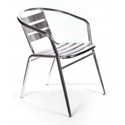 4 sedie alluminio impilabili per bar