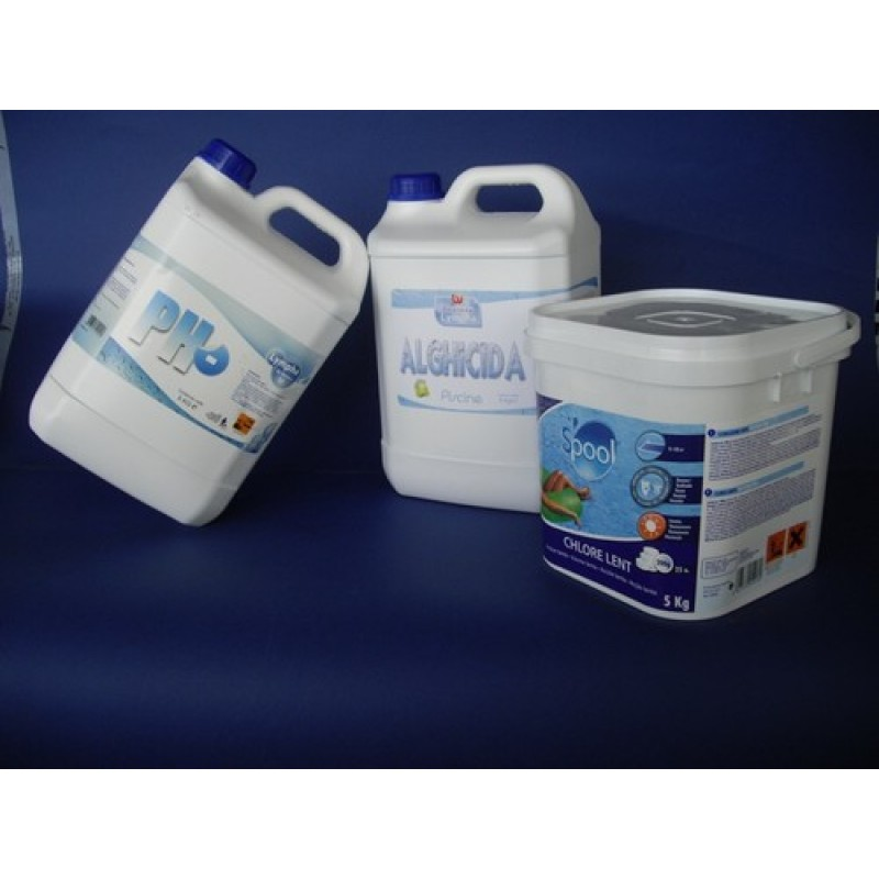 Cloro per piscine antialghe ph kit 15 kg san marco for Antialghe per piscine