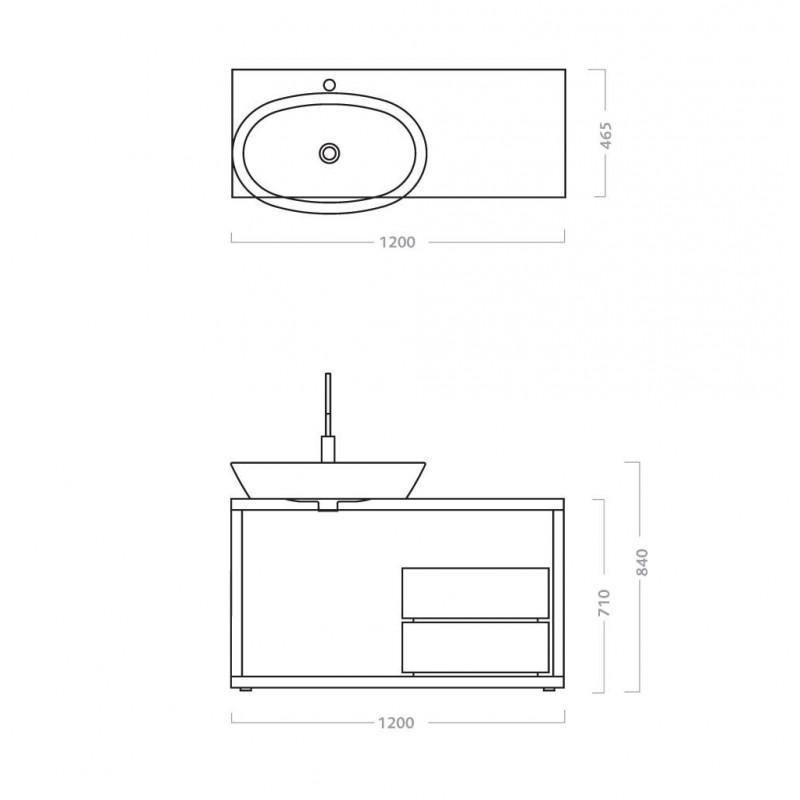 Mobile bagno lavabo pozzi ginori q3 120 san marco for Lavabo e mobile bagno