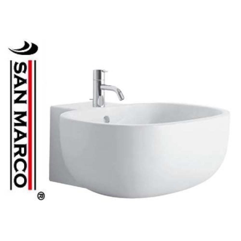 Lavabo da appoggio pozzi ginori 500 52 cm con piano - Rubinetteria lavabo bagno ...