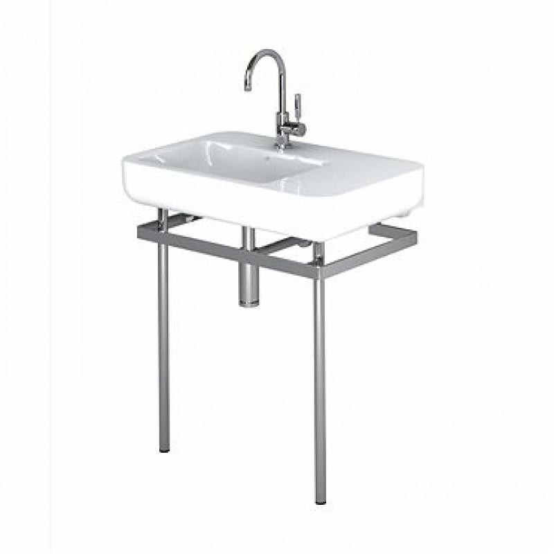 Lavabo pozzi ginori easy 02 con struttura in ottone 80 cm for Arredo bagno pozzi ginori