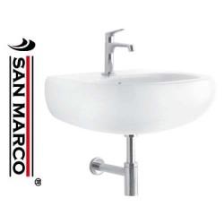 Lavabo bagno a muro Pozzi Ginori Egg 70 cm