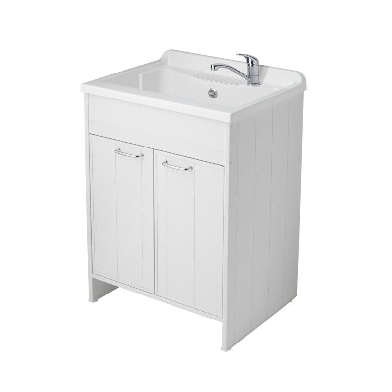 Mobile lavatoio in resina e pvc con ante san marco for Lavatoio esterno