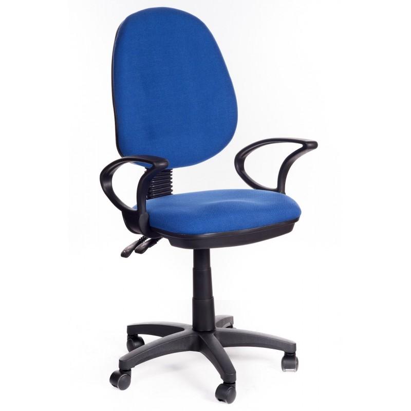 Sedia ufficio direzionale in tessuto blu sof san marco - Sedia con rotelle per ufficio ...