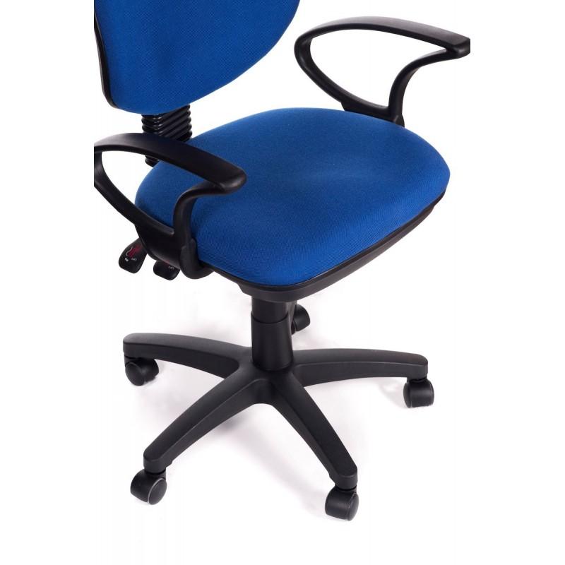 Sedia ufficio direzionale in tessuto blu sof san marco for Ufficio blu