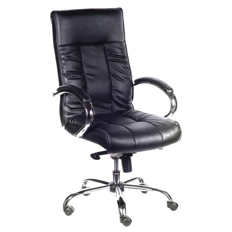 Poltrona ufficio in pelle nera ford san marco for Poltrona ufficio