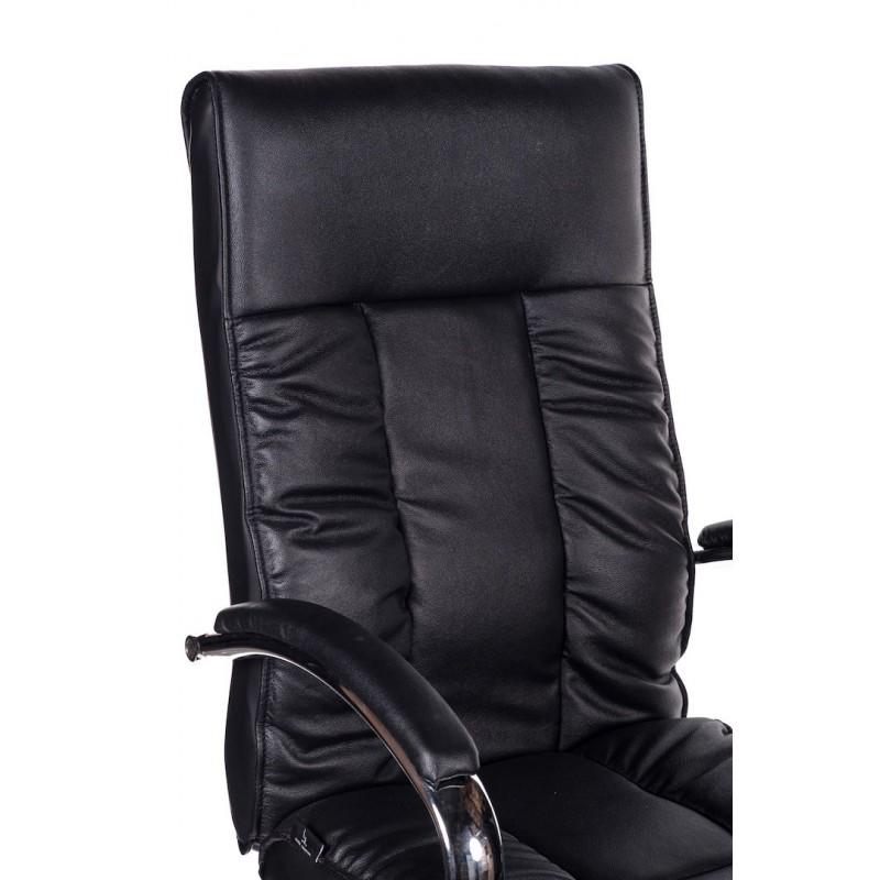 Poltrona ufficio in pelle nera Ford   San Marco