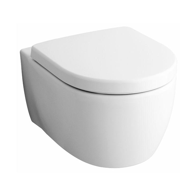 Wc sospeso pozzi ginori fast rimfree con sedile san marco for Cambiare tavoletta wc sospeso