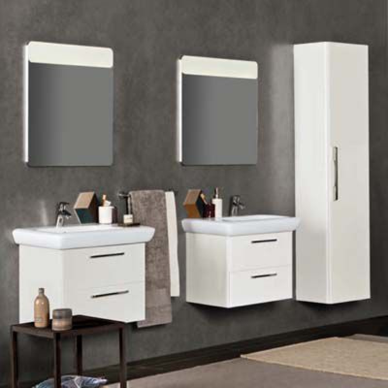 Mobili bagno grigio mobile bagno sospeso cortina colore - Mobili bagno low cost ...