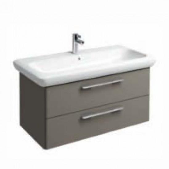 Mobile bagno lavabo pozzi ginori fast 40x60 cm grigio san marco - Mobile bagno asimmetrico ...