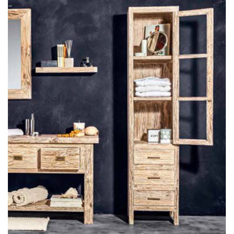 Mobile bagno cabinet cipi blanca 45x45x200 cm san marco - Mobile bagno teak ...