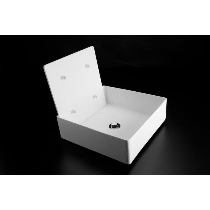 Lavabo da appoggio trabocchetto resina san marco for Lavabo bagno resina