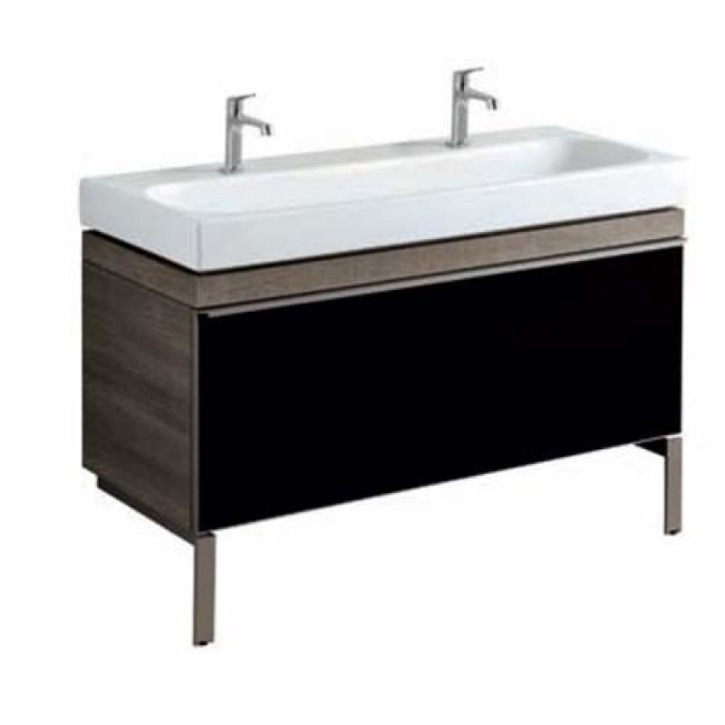 Mobile con doppio lavabo Pozzi Ginori Citterio 51x55x119 cm fumè ...