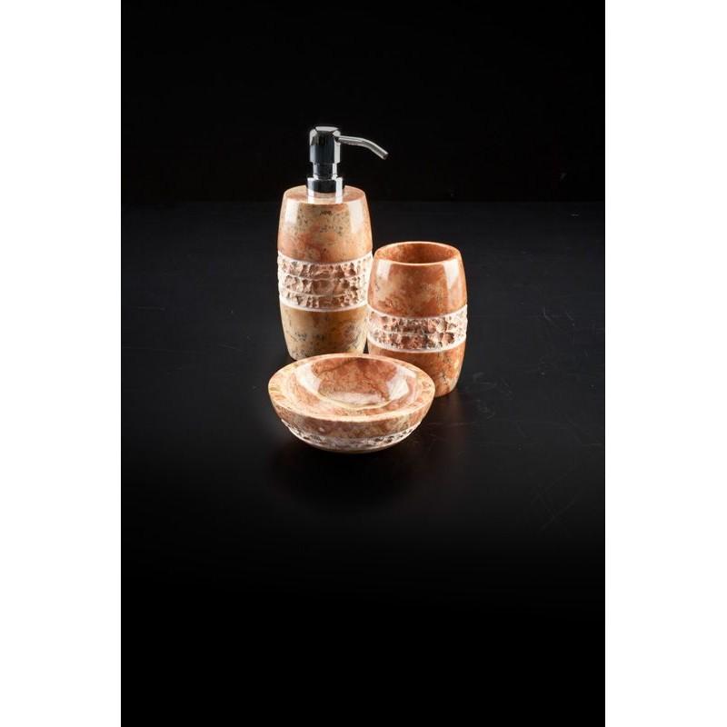 Accessori Bagno In Marmo.Set Accessori Bagno Cipi Merapi Marmo Rosa