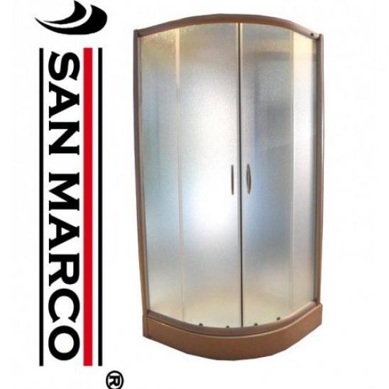Box Doccia Angolare 80x80.Box Doccia 80x80 Cm Angolare Profili Cromati San Marco