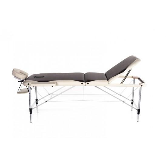 Lettino massaggio in alluminio a 3 zone bi-color