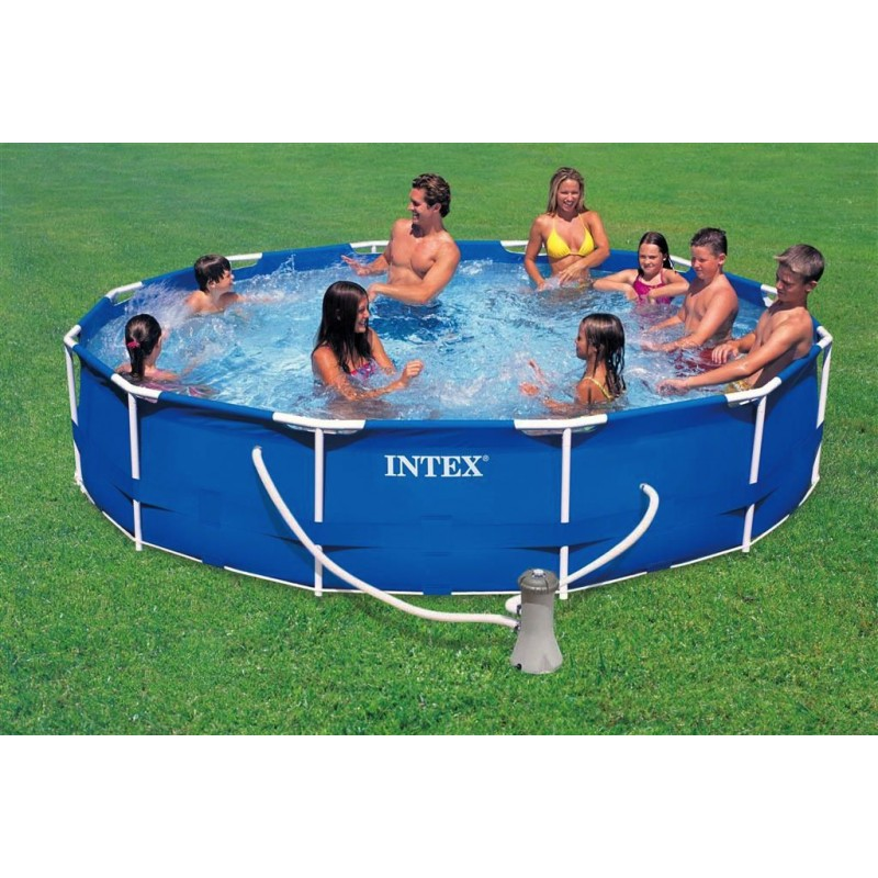 piscina fuori terra intex metal frame 457x122 cm san marco. Black Bedroom Furniture Sets. Home Design Ideas