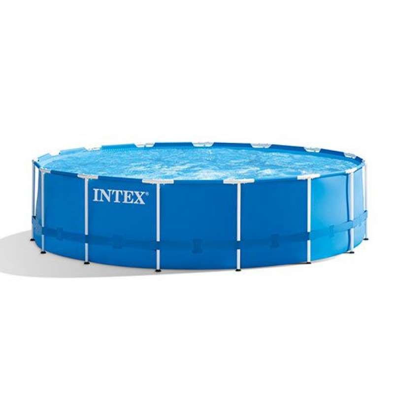 Piscina fuori terra intex metal frame 457x122 cm san marco for Piscina intex rotonda